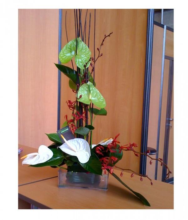 D coration florale plantes cache pots et vases for Decoration florale evenementiel