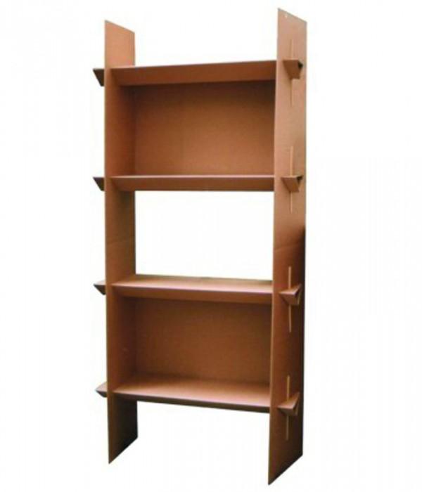 mobilier en carton etag re 4 tablettes solutions tech. Black Bedroom Furniture Sets. Home Design Ideas