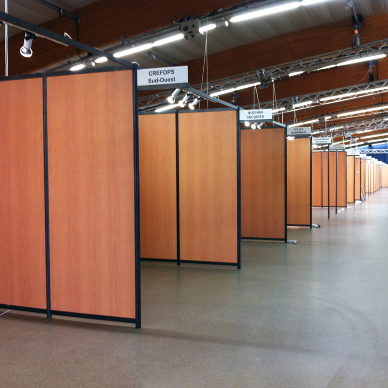 Solutions tech prod catalogue location installation for Stand modulaire aluminium