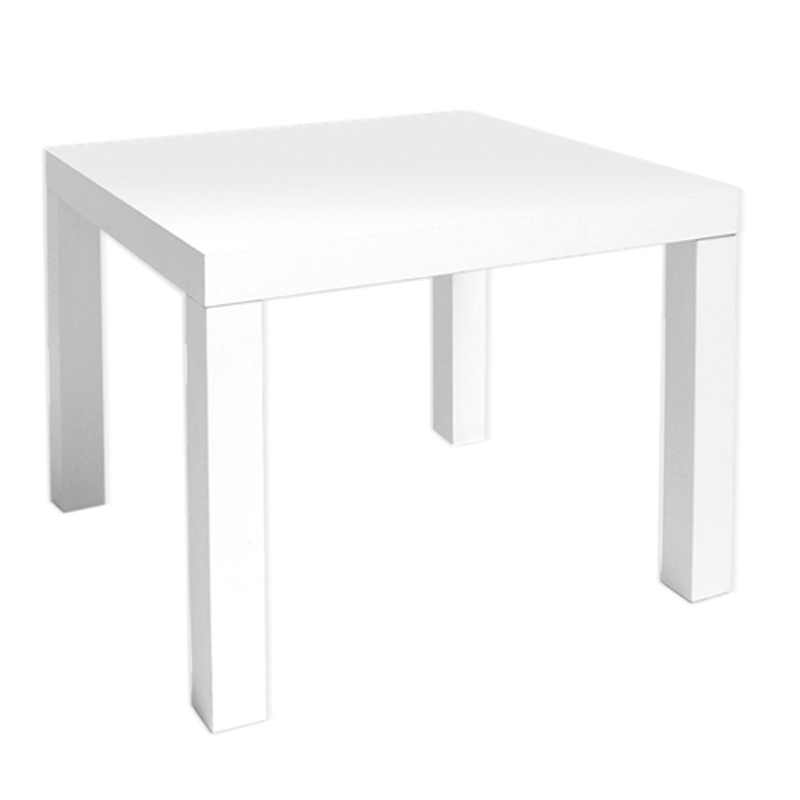 mobilier table table basse carre blanche. Black Bedroom Furniture Sets. Home Design Ideas